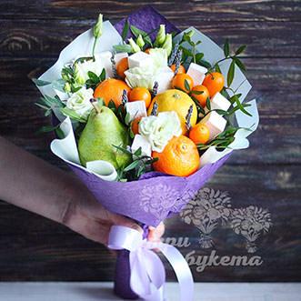 Букет из апельсинов и пастилы